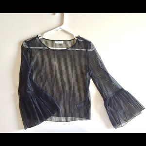 BABATON Sheer Blouse in Black